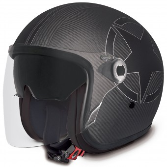 Casque Open Face Premier Vangarde Star Carbon Black