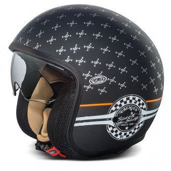 Casque Open Face Premier Vintage Matt Black SP9BM