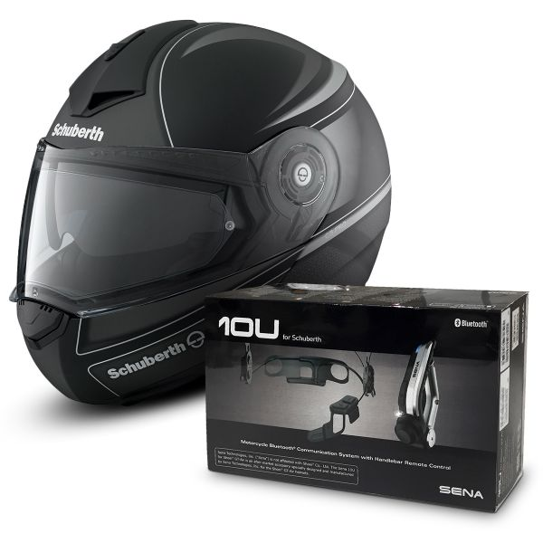 helmet schuberth c3 pro dark classic silver sena 10u. Black Bedroom Furniture Sets. Home Design Ideas