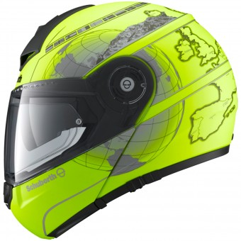Casque Flip Up Schuberth C3 Pro Europe Yellow Fluo