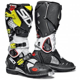 Motocross Boots SIDI Crossfire 2 White Black Yellow Fluo