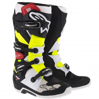Motocross Boots Alpinestars TECH 7 Black Red Yellow