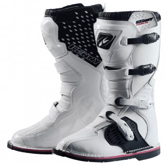 Motocross Boots Kenny Track White Kid