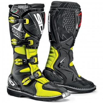 Motocross Boots SIDI Agueda Yellow Fluo Black