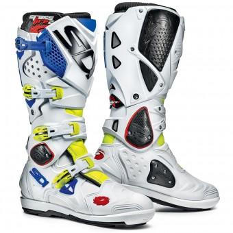 Motocross Boots SIDI Crossfire 2 SRS Yellow Fluo White Blue