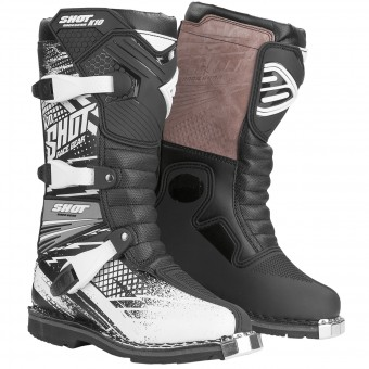 Motocross Boots SHOT K10 Raid Black Kid