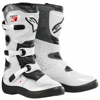 Motocross Boots Alpinestars Tech 3 S White Black Kid