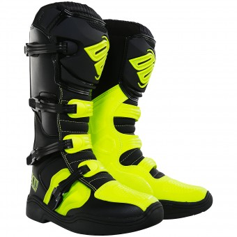Motocross Boots SHOT X11 Black Neon Yellow