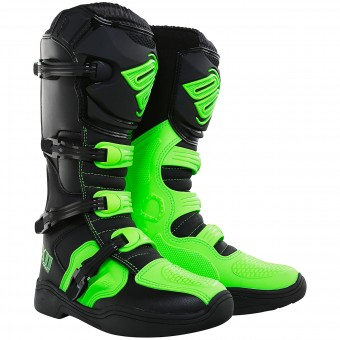 Motocross Boots SHOT X11 Neon Green