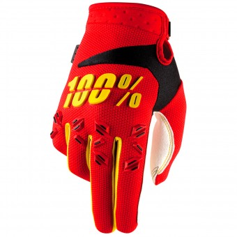Motocross Gloves 100% Airmatic Red
