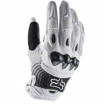 Motocross Gloves FOX Bomber White Black