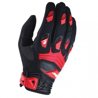 Motocross Gloves Thor Deflector Black Red