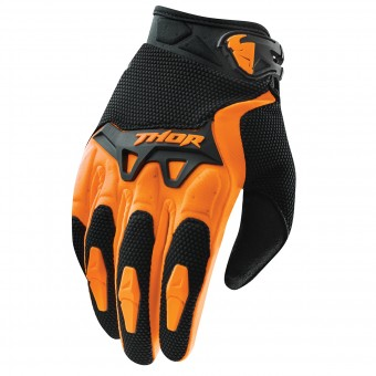 Motocross Gloves Thor Spectrum Orange