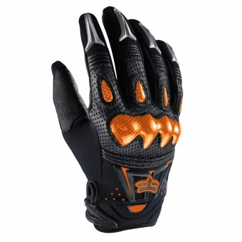 Motocross Gloves FOX Bomber Black Orange
