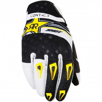 Motocross Gloves SHOT Contact Replica Rockstar Yellow