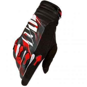 Motocross Gloves SHOT Devo Capture Black Red Kid