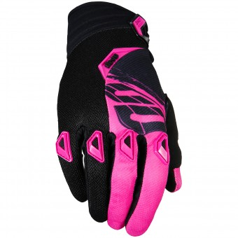 Motocross Gloves SHOT Devo Fast Pink Black Kid