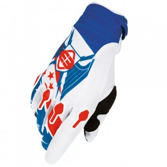 Motocross Gloves Freegun Devo Liberty Blue Red