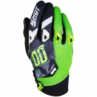 Motocross Gloves SHOT Devo Squad Green Black