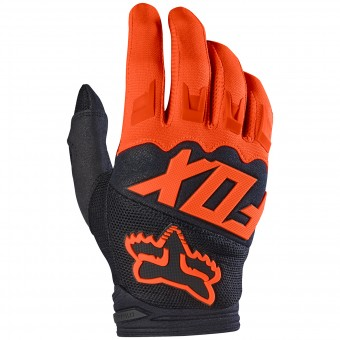 Motocross Gloves FOX Dirtpaw Orange Child 009