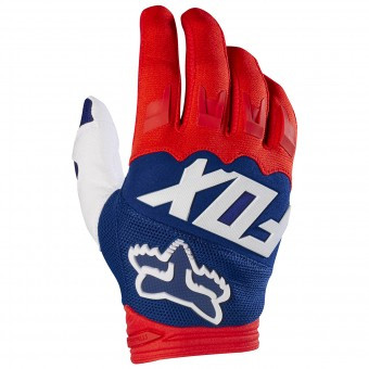 Motocross Gloves FOX Dirtpaw Race Red White 054