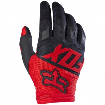 Motocross Gloves FOX Dirtpaw Red Child 003