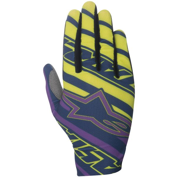Motocross Gloves Alpinestars Dune Navy Purple