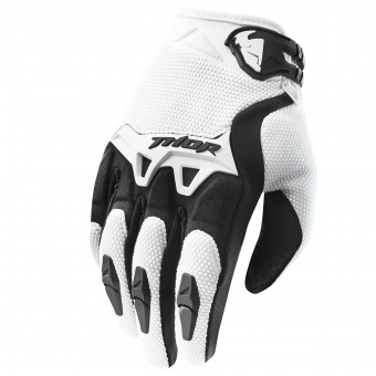 Motocross Gloves Thor Spectrum Blanc