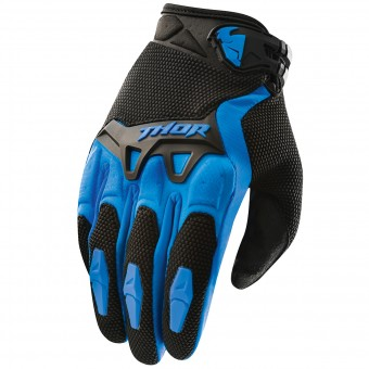 Motocross Gloves Thor Spectrum Bleu Kid