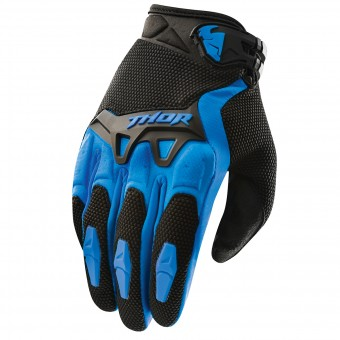 Motocross Gloves Thor Spectrum Bleu