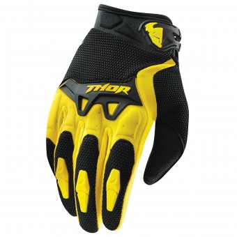 Motocross Gloves Thor Spectrum Jaune