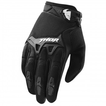 Motocross Gloves Thor Spectrum Child's Black Gloves