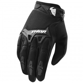 Motocross Gloves Thor Spectrum Black