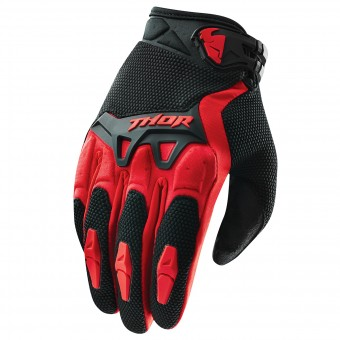 Motocross Gloves Thor Spectrum Rouge Kid