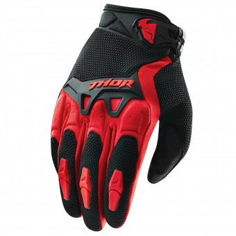 Motocross Gloves Thor Spectrum Rouge