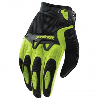 Motocross Gloves Thor Spectrum Vert Kid