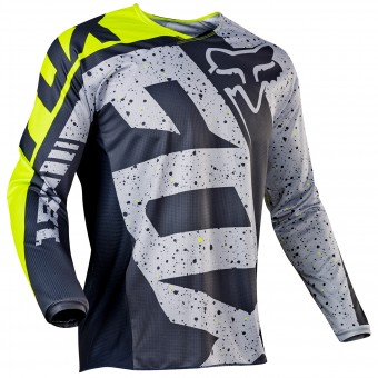 Motocross Jerseys FOX 180 Nirv Grey Yellow 086