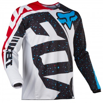 Motocross Jerseys FOX 180 Nirv Red White Child 054
