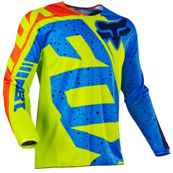 Motocross Jerseys FOX 180 Nirv Yellow Blue Child 586