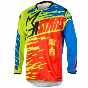 Motocross Jerseys Alpinestars Racer Braap Red Blue Kid