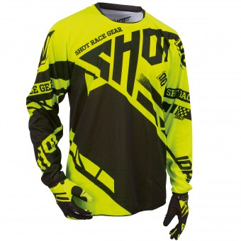 Motocross Jerseys SHOT Contact Raceway Neon Yellow