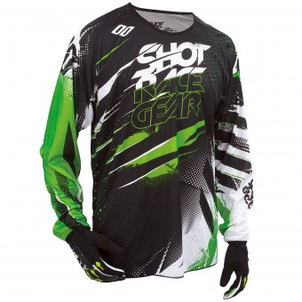Motocross Jerseys SHOT Devo Capture Green Kid