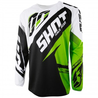 Motocross Jerseys SHOT Devo Fast Green Kid