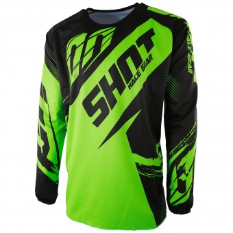Motocross Jerseys SHOT Devo Fast Neon Green Kid