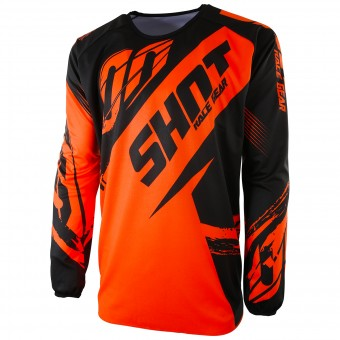 Motocross Jerseys SHOT Devo Fast Neon Orange Kid