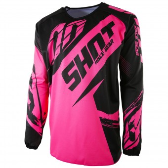 Motocross Jerseys SHOT Devo Fast Neon Pink Kid