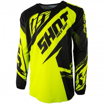 Motocross Jerseys SHOT Devo Fast Neon Yellow Kid
