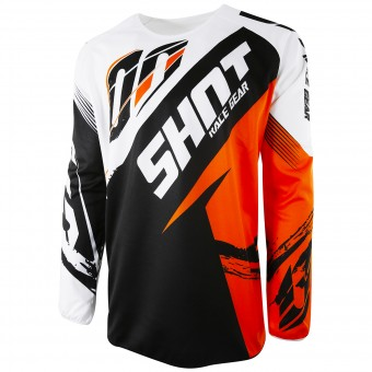 Motocross Jerseys SHOT Devo Fast Orange Kid