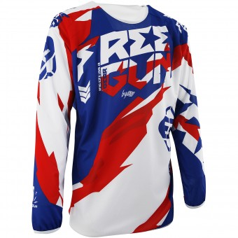 Motocross Jerseys Freegun Devo Honor Blue Red