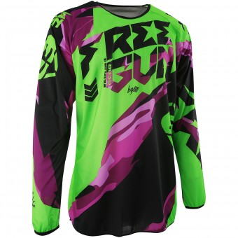 Motocross Jerseys Freegun Devo Honor Neon Green Purple